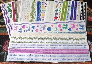 Creative-Memories-Misc-Great-Lengths-Sticker-Strips-U-Choose-Lace-Ribbons-Ivy