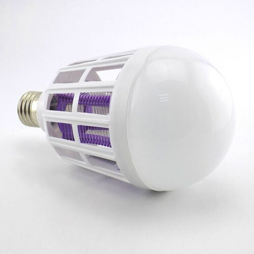 E27 15W LED Bulb Anti-Mosquito Insect Zapper Fly Moth Killer Light lamp electric