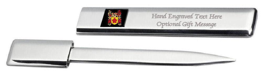Vernon Famille  Blason Heraldic Engraved Ouvre-Lettre