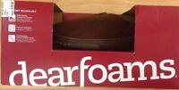 Men's Dearfoams Brown Slip Resistant Clog Indoor Outdoor Slippers Size Small 7-8