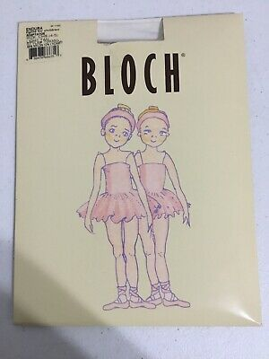 Bloch Child Girls Endura Adaptation Light Tan Dance Tights Sz 4-5 New!