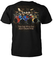 The One With The Most Drums Wins T-shirt -pop Rock Blues Classical Hip Hop Music