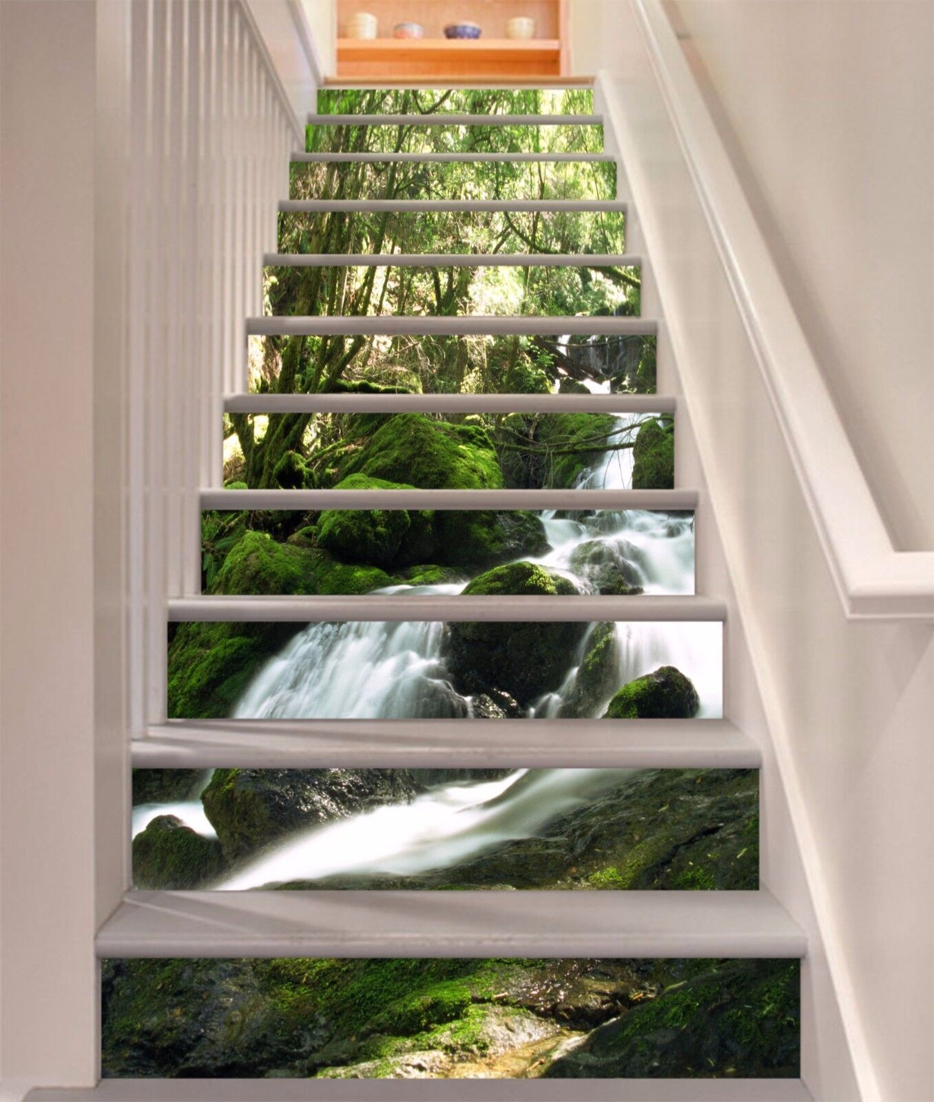 3D  Forest waterfall 333 Risers Decoration Photo Mural Vinyl Decal Wallpaper US