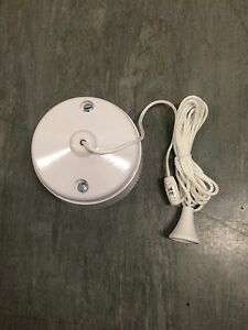 WHITE TWO WAY CEILING PULLCORD SWITCH 250V BATHROOM TOILET SPECIAL