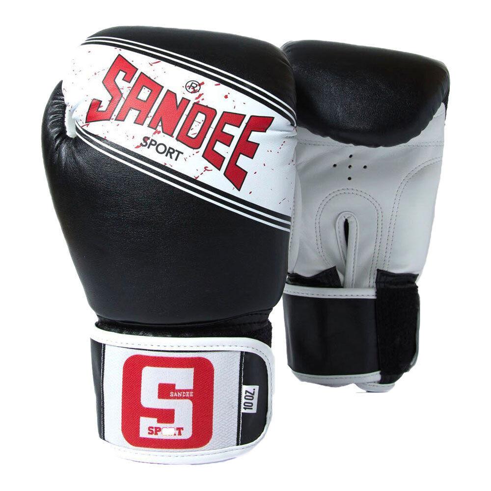 SeEE Sport Muay Thai scatolae Guanti Nero Kick Sparring Guanti Sacco Guanti K1