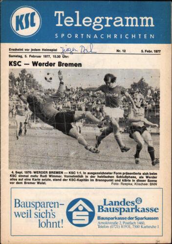 BL 76/77 Karlsruher SC 05.02.1977 SV Werder Bremen