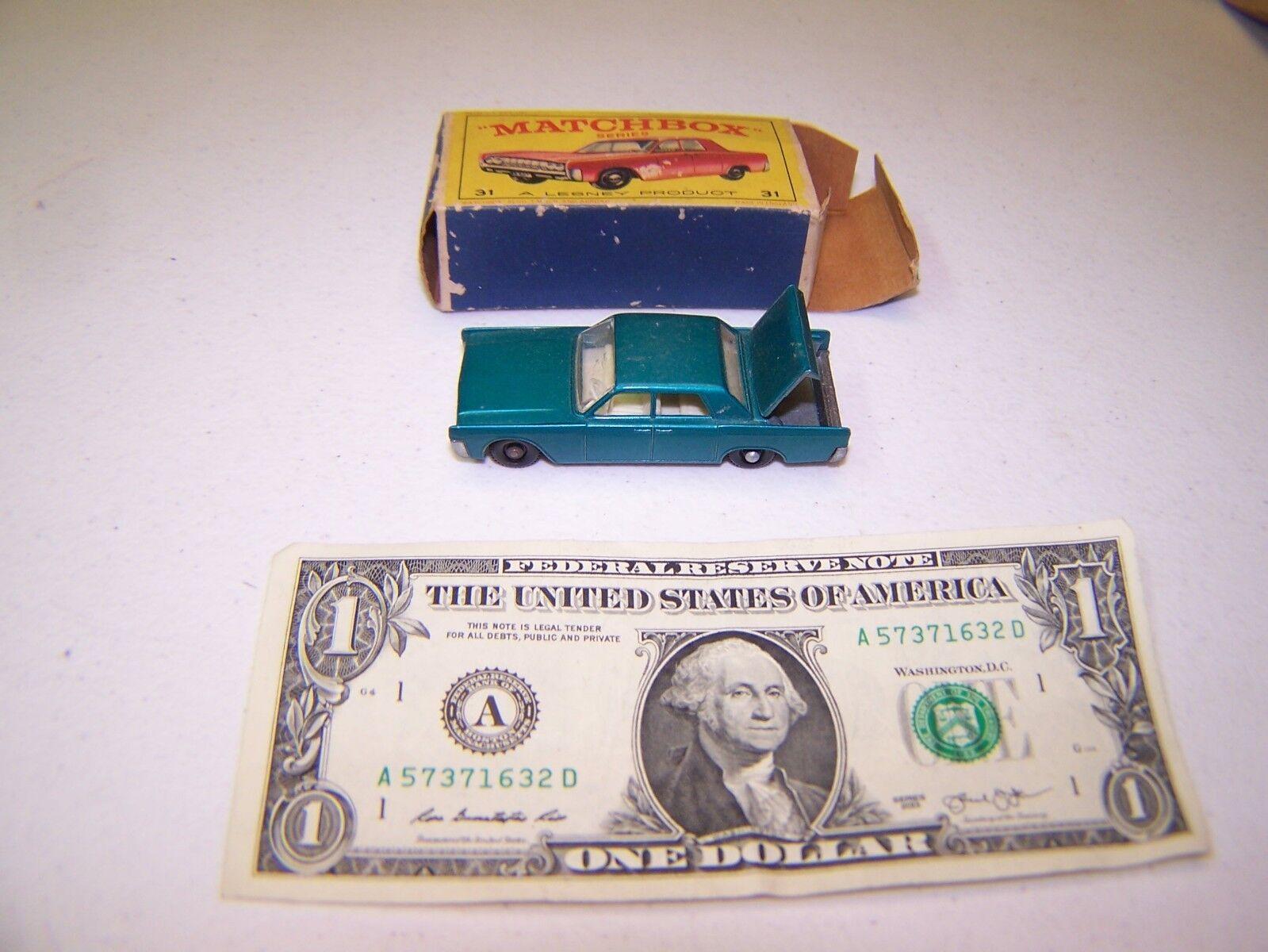 Matchbox Matchbox Matchbox   Lesney - Vintage Diecast Teal Lincoln Continental 50438a
