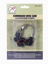 "New Rothco 22"" Stainless Steel Camping/Survival Wire Saw w/ Nylon Hand Straps"