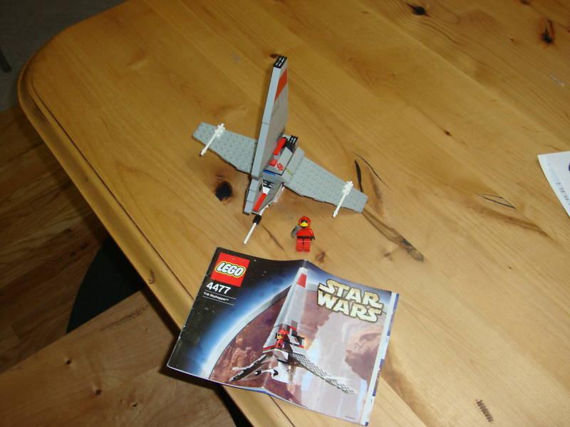 Star Wars Lego 4477 t-16 sky hopper 100% complete