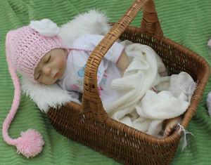 Mütze Neugeborene Zipfelmütze Babymütze Fotoshooting 35-40 cm NEU Kopfum