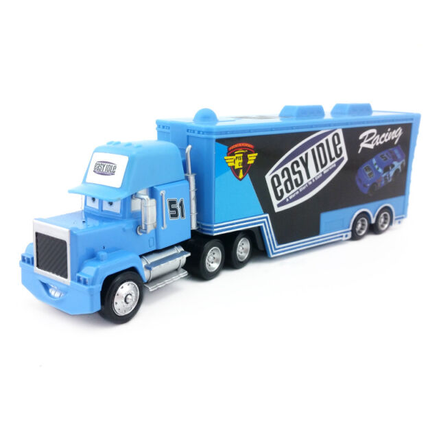 Disney Pixar Car Mack No 51 Easy Idle Racer S Hauler Truck 1 55 Toy