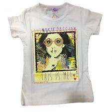 VIOLETTA camiseta en blanco de algodón talla 6 anni de niña
