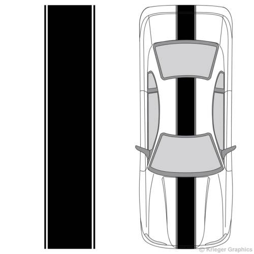 Universal 3M Vinyl Center Racing Stripes for any Car or Truck Decals