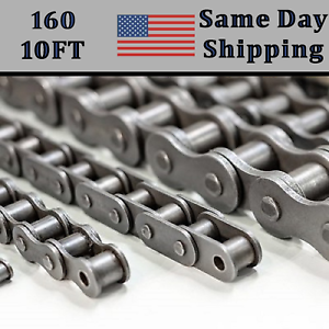 1 Free Connecting Link Attached #40 Roller Chain x 10 Feet