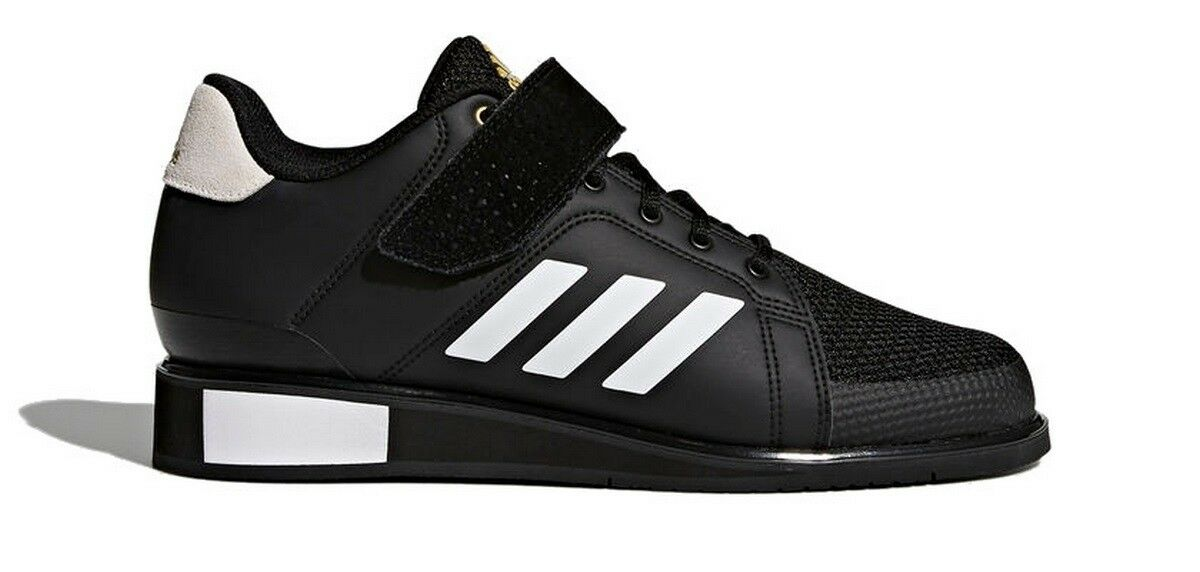 Adidas Power Perfect III Mens Weightlifting Shoes Trainers Sports Black BB6363