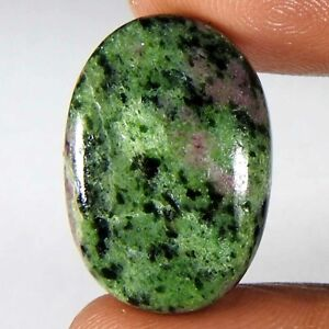 Top Grade Quality For Making Jewelry,Size 26X17X7 mm S-5616 Classic 100/% Natural Ruby Zoisite Oval Shape Cabochon Loose Gemstone 35 Ct