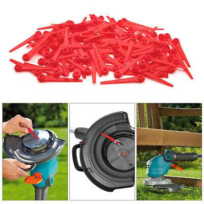20Pcs Rot Kunststoffmesser Ersatzklingen für Akku-Rasentrimmer Gardena 9823 9825