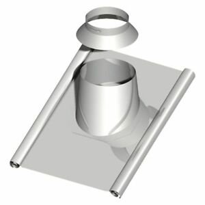 """Double-Walled Exhaust System Roof Penetration 30-45?,Dn 150 With Bleischürze """" 1"""