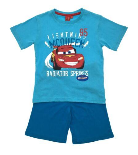 Boys Disney Cars Lightning McQueen Pyjamas Short Pjs 2 Piece Pyjama Set Size