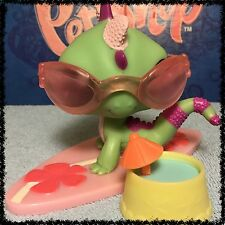 Littlest Pet Shop #1865 RARE Green & Purple Dragon Iguana Lizard w/ Accessories
