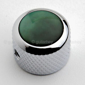 KCD-0020 GREEN PEARL ON CHROME NEW Q-Parts Dome Knob
