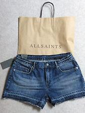 Allsaints - BNWT &Bag - Denim Shorts size 30in waist (true fit) 12 UK??