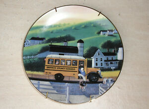 Transpec-School-Bus-Collector-Plate-Number-189-By-Chuck-Wilkinson-1998