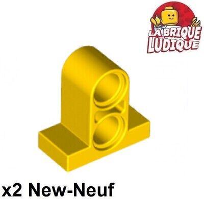 Lego technic 4x pin connector plate 2 holes 1x2x1 2//3 gris foncé 32530 NEUF