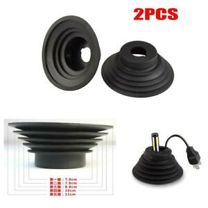 2pcs Car HID LED Headlight Bulb Dust Seal Covers Rubber Housing Cap 110mm