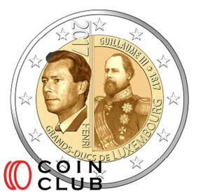 2 EURO Luxemburg 2017 - 200. Geburtstag GH Wilhelm III.- UNC