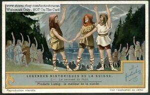 Switzerland-Legend-Oath-Of-The-Rutli-History-1930s-Trade-Ad-Card
