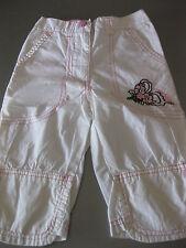 Jeans Hose Bermuda Shorts Gr. 110 Weiß/Rosa, dopodopo, Stickerei, sehr schön