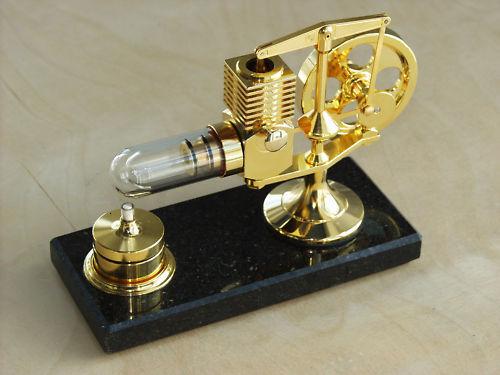 """/>vergoldet/<HOG Stirling Heißluftmotor/_Dampfmaschine NEU />gold/< /""""Limited Edition/"""""""