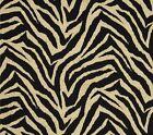 Outdoor/ Indoor ~ Upholstery ~ZEBRA PRINT ~ Black & Beige~ Fabric ~ per 1/4 yard