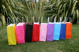 1x 5x 10x 20x Plain Kraft Paper Gift Bags For Party