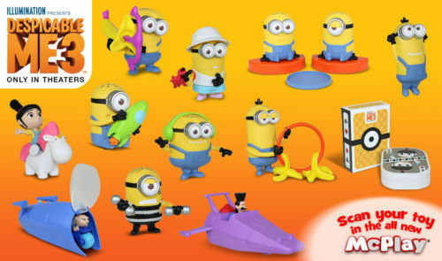 2017 mcdonalds happy meal despicable me 3 set of 12 minions ebay