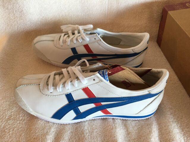 Rare Asics Tiger Corsair Shoes, Size 10.5, White, Blue, Red