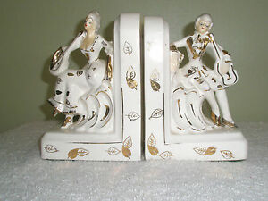 Vintage-Porcelain-Figural-Bookends-Victorian-Man-and-Woman-Made-in-Japan