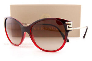 81c70cedaba4 Brand New VERSACE Sunglasses VE 4316B 5075 13 Burgundy Gradient Red ...