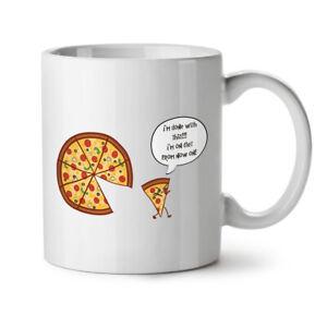 Pizza Slice On Diet Funny NEW White Tea Coffee Mug 11 oz | Wellcoda
