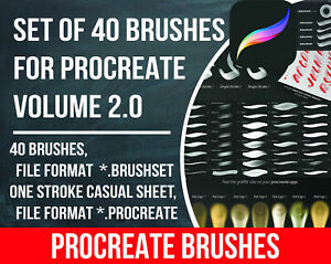 Details about Brush Set for Procreate vol  2\ Procreate brush\ Procreate  lettering \ Procreate