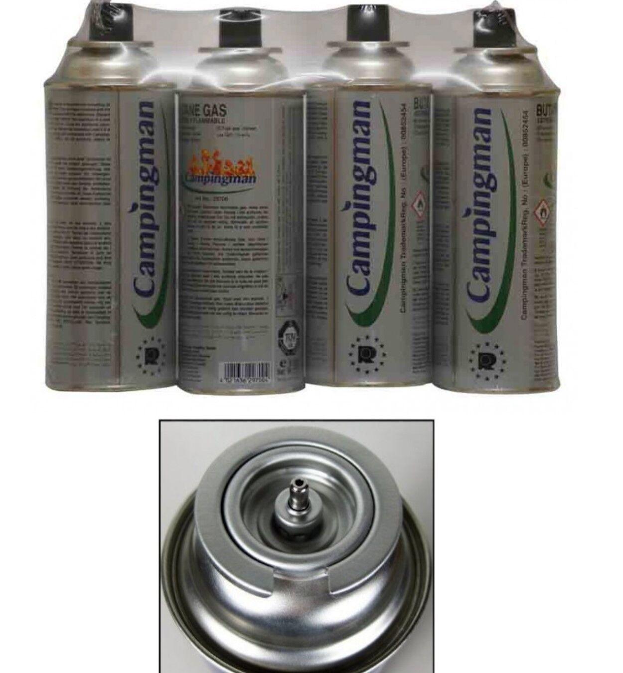 24 x butangas cartouche 227ml bouteille butane gaz cartouche butangas 227g pour camping réchaud four 391521