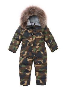 Children's winter 90% down jacket girls boys snow wear baby kids coats  jumpsuit | eBay