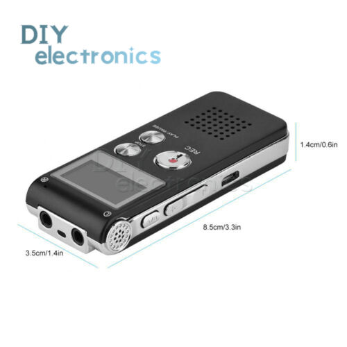 Rechargeable 8GB Digital Audio//Sound//Voice Recorder Dictaphone MP3 Player US