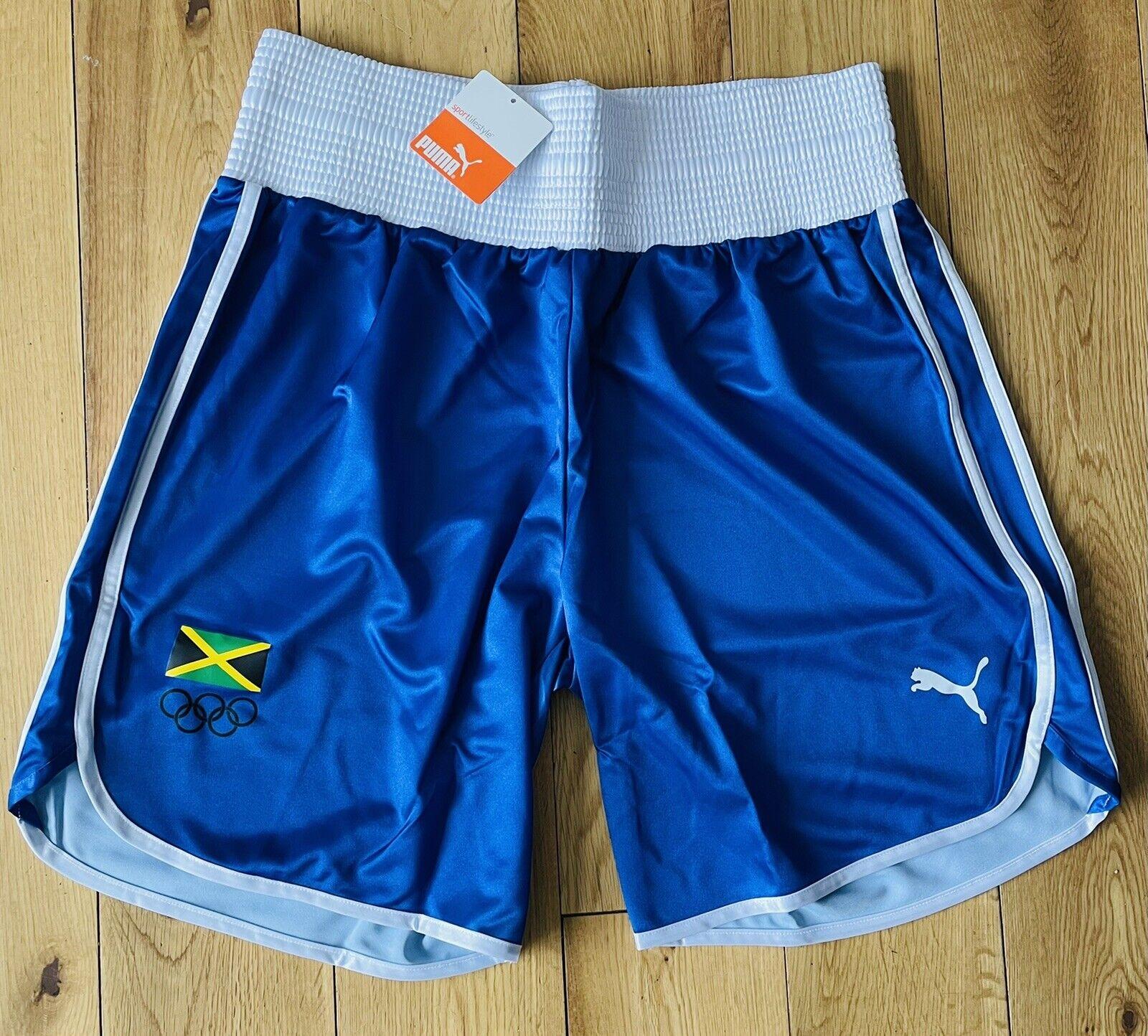 PUMA Damen Jamaica Olympische Training Boxen Shorts Neu Größe M,L,XL