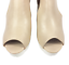 thumbnail 7 - Womens Ladies Beige Faux Leather High Heel Peep Toe Sandals Shoes Size UK 7 New