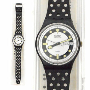 Vintage 80s swatch swiss watch bandos diver gb710 quartz - Swatch dive watch ...