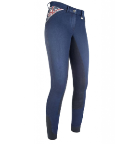 HKM  Global  Denim Ladies Breeches Softline 3 4  Grip  All Sizes Free Delivery  honest service