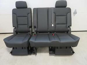 Miraculous Details About 2015 2018 Yukon Tahoe Escalade Second Seat 2Nd Row Bench Seat Black Leather Machost Co Dining Chair Design Ideas Machostcouk