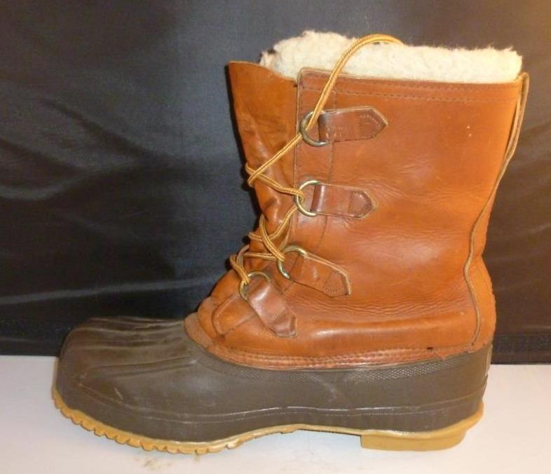 De Colección Herman Survivor Pato botas aislada Impermeable Para Hombre Usado En Excelente Condición